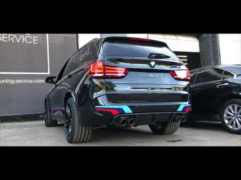 Звук выхлопа Akrapovic на BMW X5 - установка регулируемых выхлопных систем в Киеве!