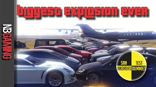 GTA5 Biggest Explosion Ever - San Andreas Test Dummies Ep. 40 - Funny Moments and Stunts