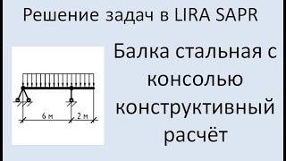 Lira Sapr Расчёт стальной балки с консолью.