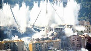 شاهد: تفجير ما تبقى من جسر موراندي الشهير في جنوة بعملية هدم مذهلة…