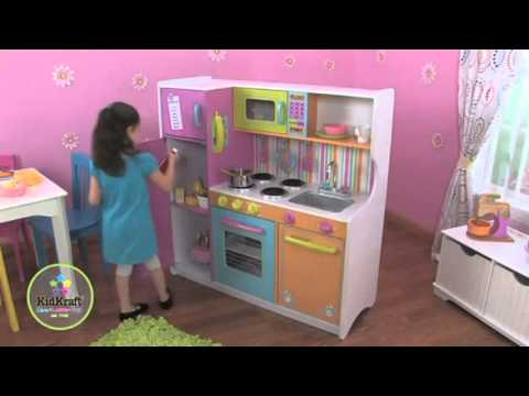cocinita de madera para ni as youtube. Black Bedroom Furniture Sets. Home Design Ideas
