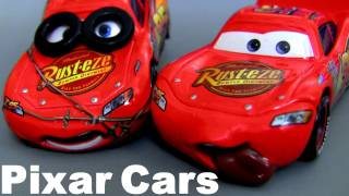 7 CARS Cactus Lightning Mcqueen, Tongue, Impound, Bug Mouth Disney Sponsorless Pixar Chase diecast