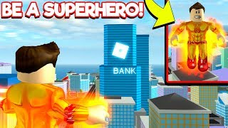 Jailbreak but with SUPERHEROES! *MUST PLAY!* (Roblox Mad City!)