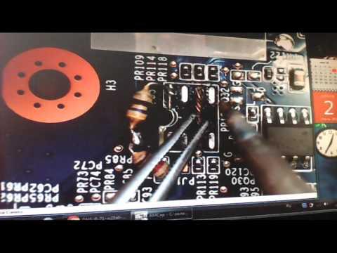 Ноутбук IRU W255cu выгорел P2808B0 (без схемы+микроскоп)