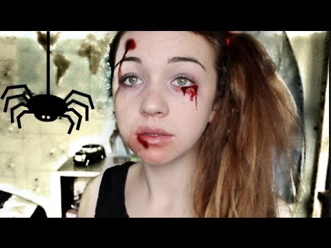Maquillage halloween rapide simple conomique youtube Maquillage de diablesse facile a faire