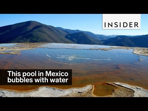 This pool in Mexico literally bubbles with natural spring water