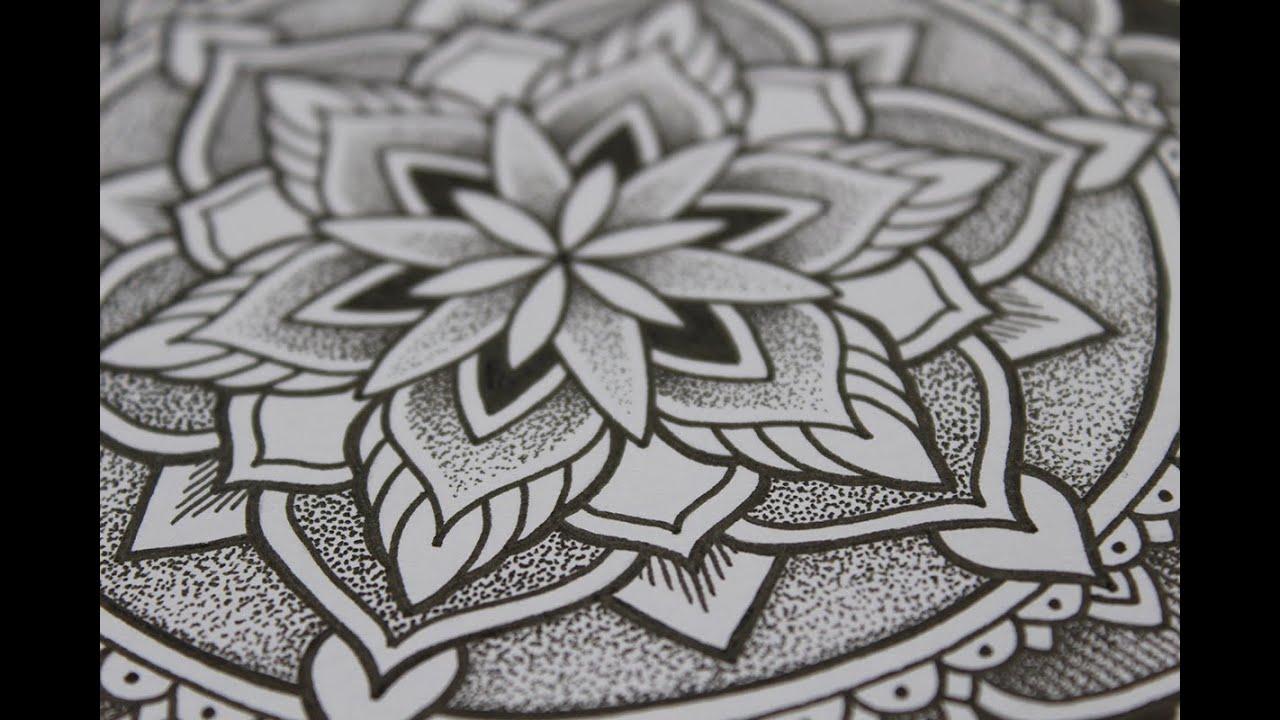 Drawing An Ornamental Dotwork Mandala