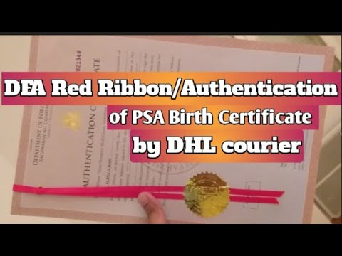 How To Have DFA Red Ribbon/ Authentication By DHL Courier