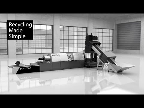 Simple plastic recycling machine