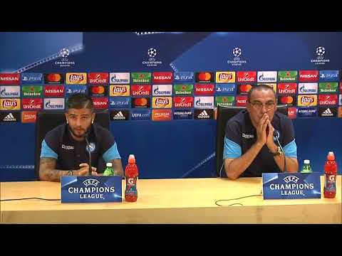 Champions League, Napoli-Nizza: Sarri ed Insigne in conferenza stampa (15-08-2017)