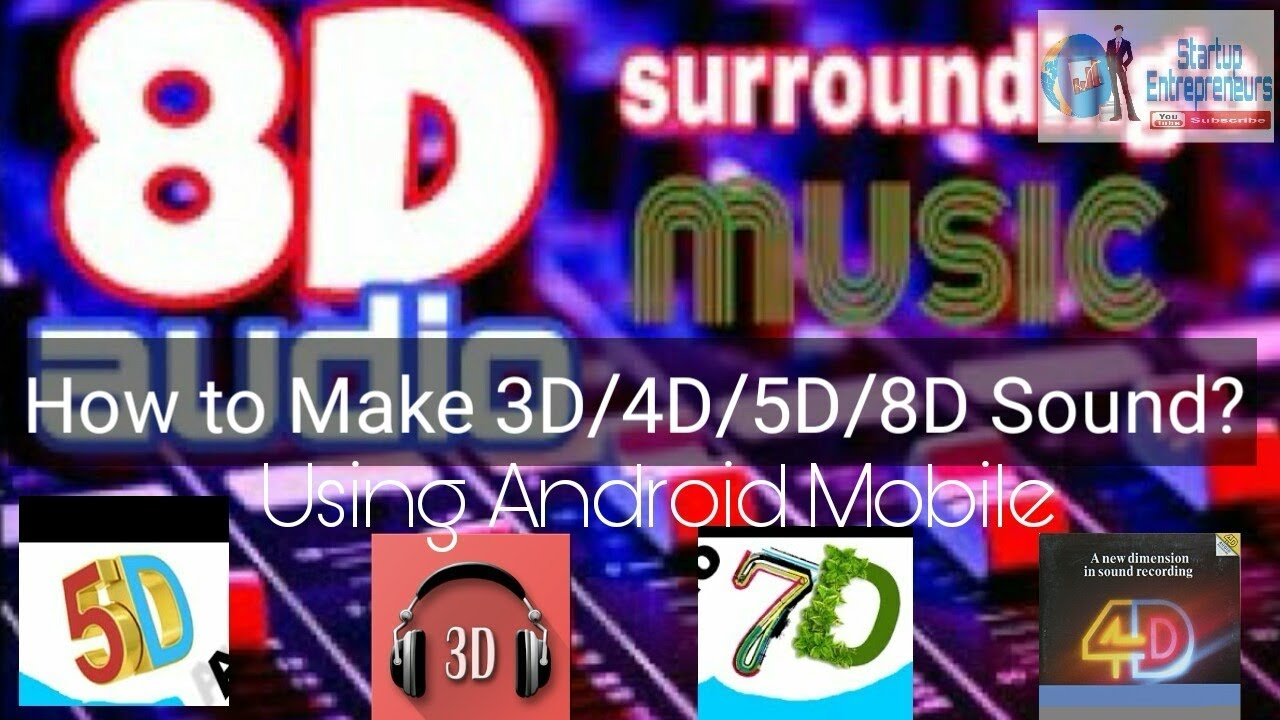 How to make 3D/4D/5D/8D surrounding audio with Android Handset | Create 3D  surrounding music files