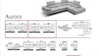 J&M Aurora 🛋 Sectional Sofa Right in Light Grey | Light Grey Leather Sectional Couch