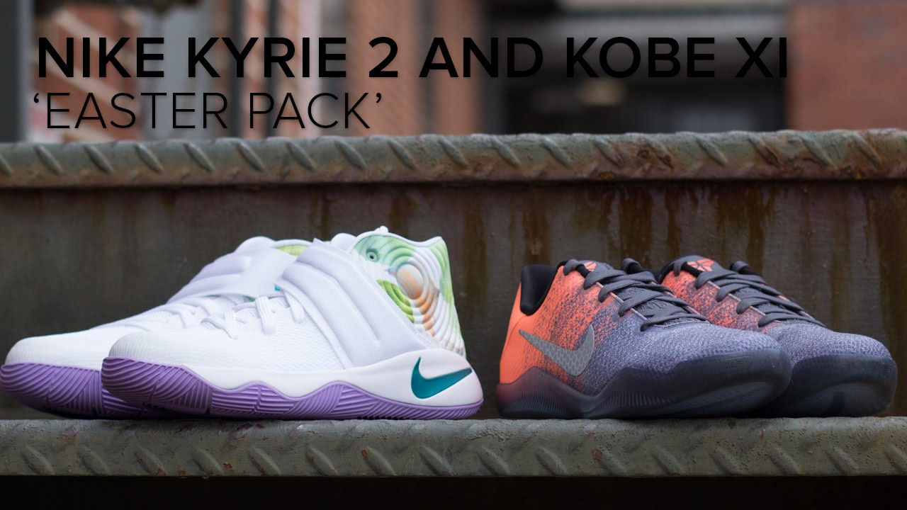 1107fc328d56 Nike Kobe XI and Kyrie 2  Easter Pack  Quick On Feet Review - YouTube