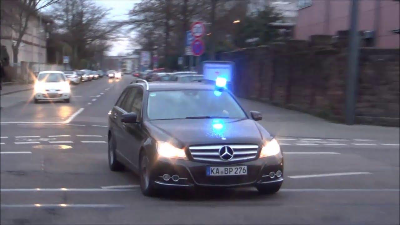 Cobra 11 Auto >> ZPKW Bundespolizei Karlsruhe zeitgleich mit NEF DRK Karlsruhe auf Einsatzfahrt] - YouTube