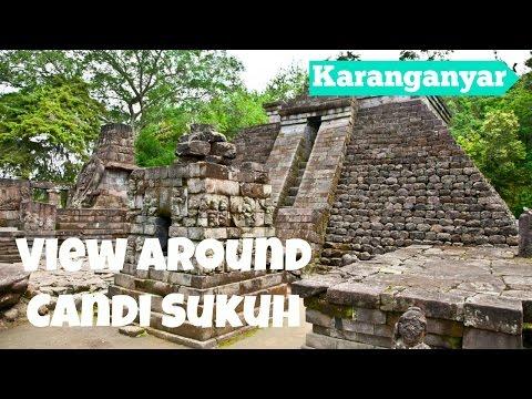 The Mountainous View Around Candi Sukuh in Karanganyar - Central Java