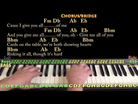 Piano : piano chords all of me Piano Chords also Piano Chords All ...