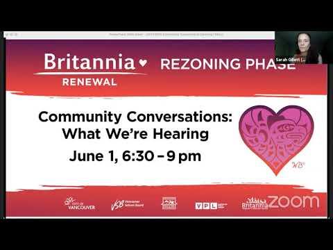 Britannia Renewal Community Conversations: What We're Hearing