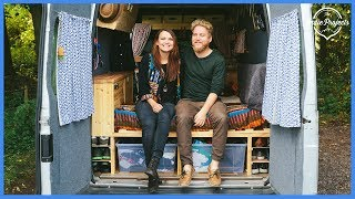 One of The Indie Projects's most viewed videos: They Lost Their Jobs so They Built an Amazing £5k Tiny Home! Ford Transit VAN TOUR