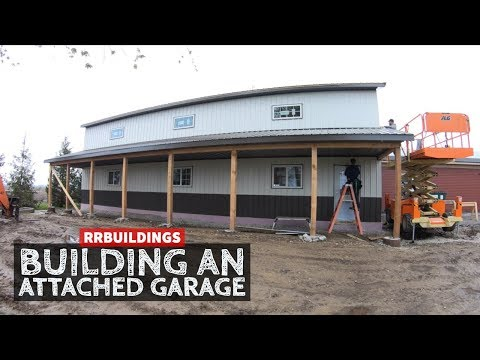 How to Build a Garage Addition 20: Installing Man Door and Overhang Details