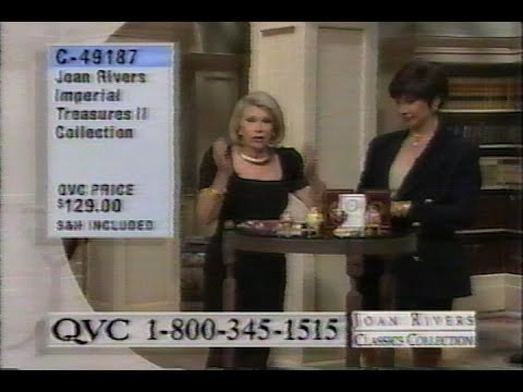 June 1998 - Joan Rivers Pitches Her Classic Jewelry Collection on QVC