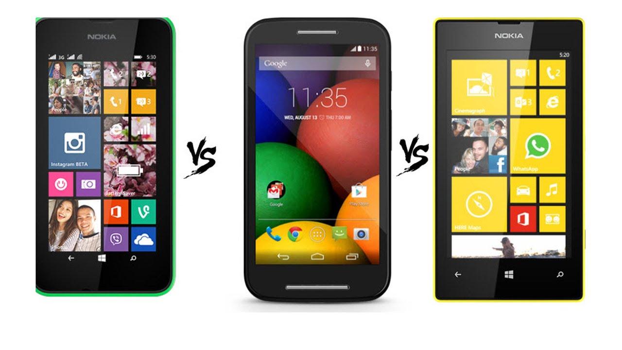 Lumia 530 vs Moto E vs Lumia 520 -- Which One to Buy - YouTube