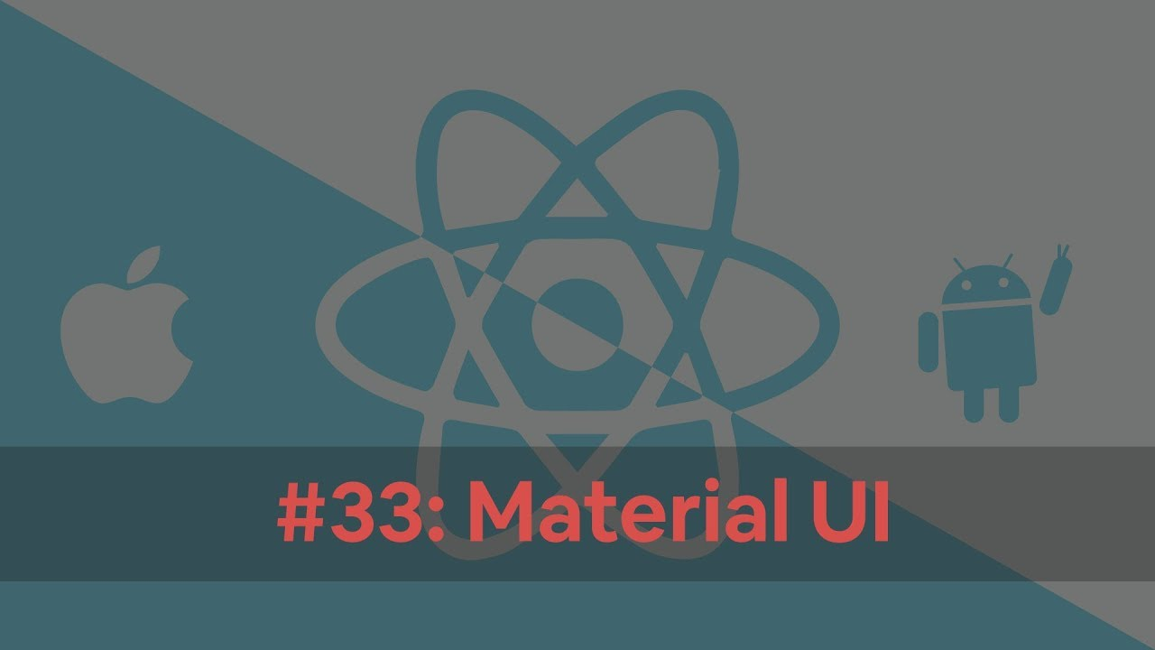 React Native Tutorial 33: Material UI in React Native