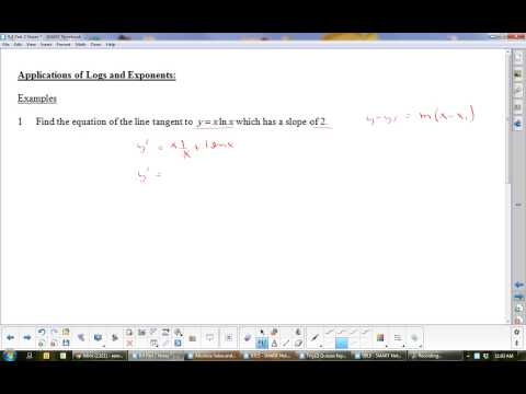 U8L5 Derivatives of Logarithmic Functions Part 2: Calculus
