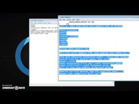 Cara Membuat Javascript Di Notepad