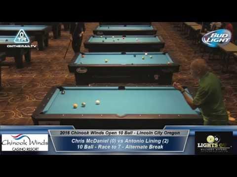 Chris McDaniel vs Antonio Lining - 2016 CWO 10 Ball