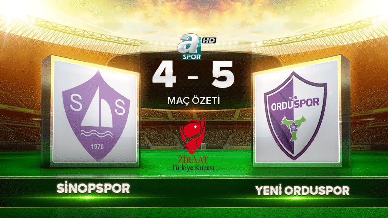 Sinopspor 4-5 Yeni Orduspor   A Spor   Maç Özeti