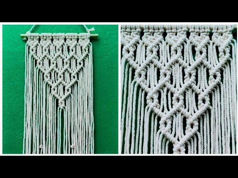 diy-macrame-wall-hanging-tutorial,-basic-knots-pattern-for-beginners
