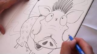 How to draw a warthog with Lynne Chapman