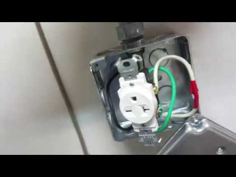 240 volt socket Ground pin up or down ? 6 20R Nema Receptacle - YouTube