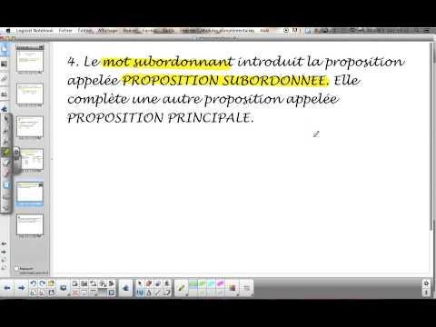 Phrase complexe : la subordination - définition