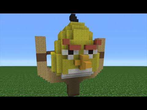 Minecraft Tutorial: How To Make A Chuck House (Angry Birds Movie)