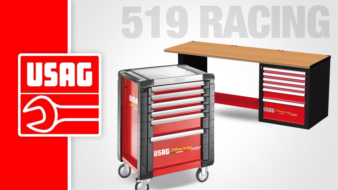 b49c723c21a9a4 USAG 519 Racing - Carrello portautensili - YouTube