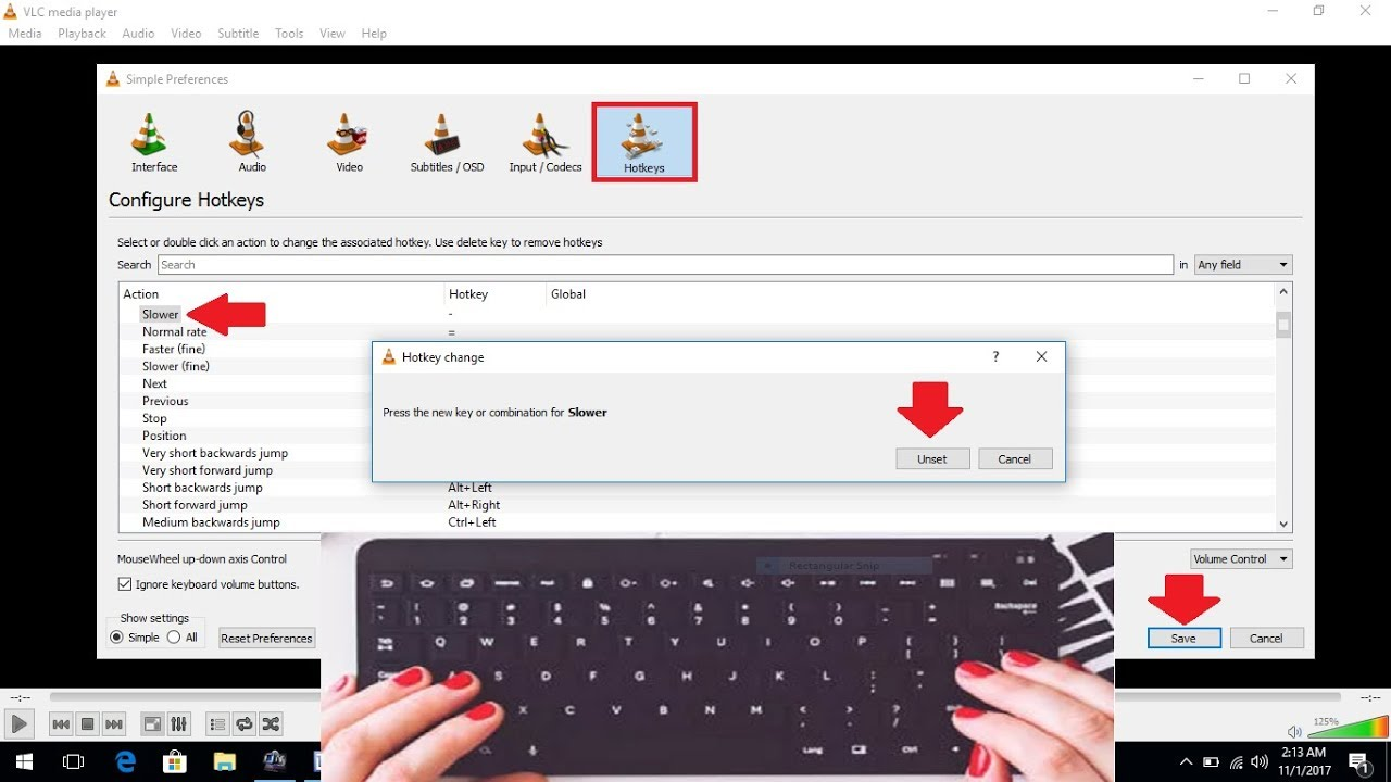 How to Disable Keyboard Shortcut Keys of VLC Player in Windows PC