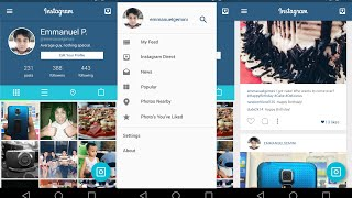 INSTAGRAM with Material Design