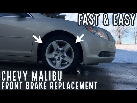 Chevy Malibu Brake Pad and Rotor Replacement – 2008 – 2012 – DIY How To