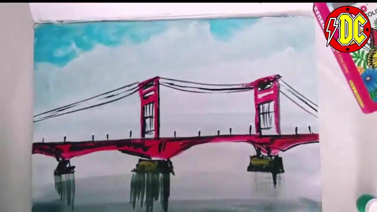 Paling Baru Cara Menggambar Jembatan Ampera Tasya Schuh