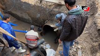 «المترو» يتسبب في انقطاع المياه عن 5 مناطق بـ«الجيزة»
