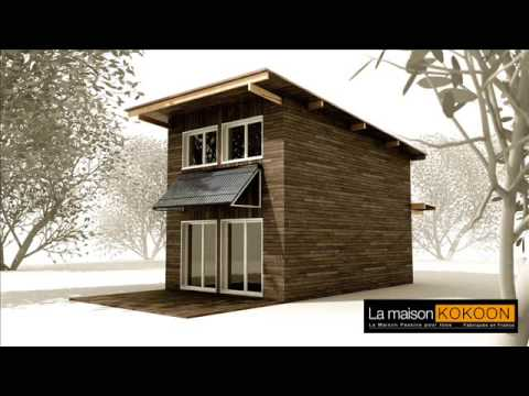 la maison kokoon bioclimatique cologique passive construction ossature bois youtube. Black Bedroom Furniture Sets. Home Design Ideas
