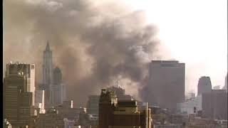 WTC 7 Burning & Collapse (CNN Static Cam)