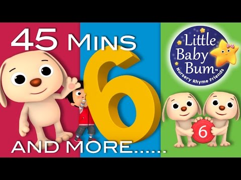 Number 6 Song  Plus Lots More Nursery Rhymes  45 Minutes Compilation from LittleBaBum!