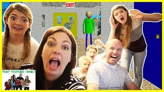 Parents Play Baldi's Basics In Education And Learning Game/ That YouTub3 Family