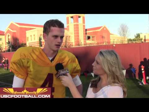 USC freshman quarterback Max Browne from spring ball