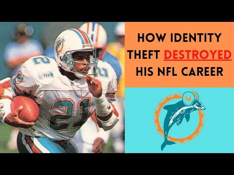 [OC] [Highlight] In 1992, Dolphins RB Mark Higgs was arrested because of a case of mistaken identity; his neighbor was impersonating him and racked up grand theft and worthless check charges. Oddly enough, the moment this happened, Higgs' career never recovered, as his production was cut in half