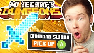 I Got a DIAMOND SWORD in Minecraft Dungeons! *NEW GAME*