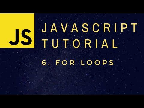 For Loops - JavaScript Programming Basics p.6 thumbnail