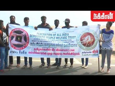 கடலென திரண்ட இளைஞர்கள்..! Youngsters' rally in Chennai against Jallikattu Ban!